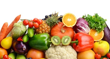 43263937 - fruits and vegetables isolated on white background